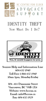 Identity Theft Brochure Cover