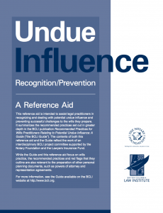undue influence - bcli