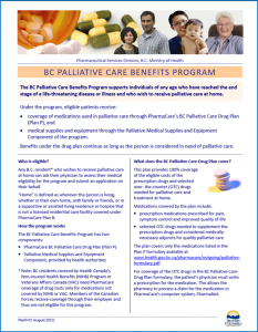Palliative Care Benefits Program
