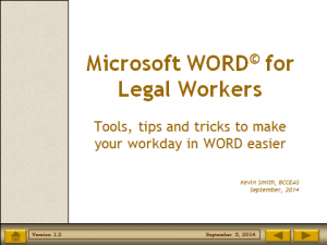 Word for Legal Workers